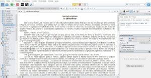 Ejemplo de pantalla de Scrivener
