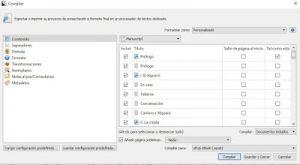 Compila tu documento con Scrivener