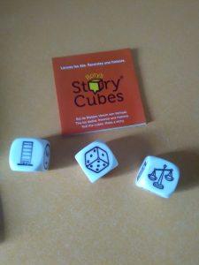 Ejemplo de tirada en Story Cubes