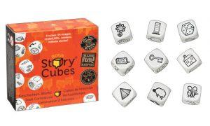Caja con los nueve dados de Story Cubes