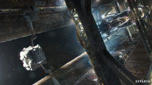 Carga y descarga en un ascensor espacial