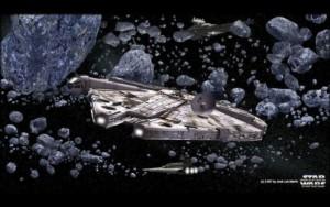 Asteroides y halcón milenario